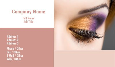 EyeShadow Business Card Template
